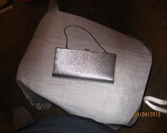Vintage 1950's Silver Evening Bag - Item 14-1056