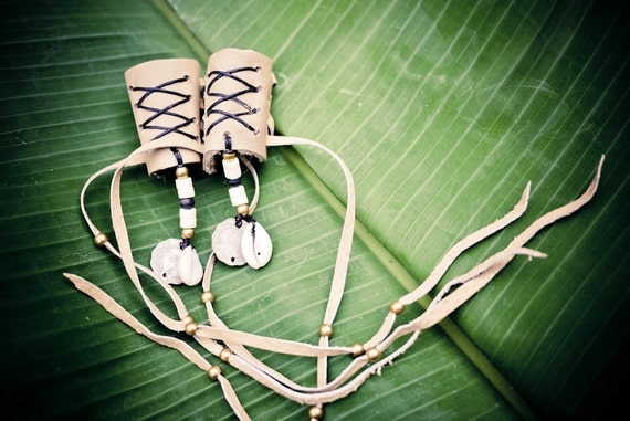 Boho Leather Hair Wraps: Native American Inspired