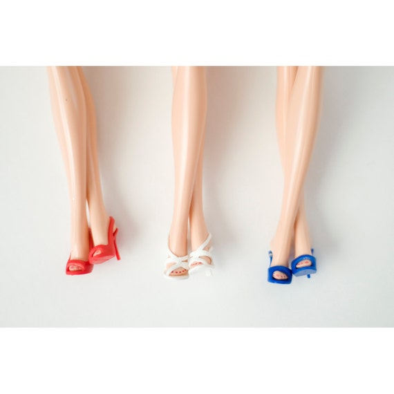 Barbie Photo - Red White & Blue Legs - Fine Art Photograph - Shoe Print - Doll Clothes Photo - Legs Print - Fashion Photo - Doll Shoes Art