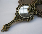 necklace--antique bronze mirror and little comb,alloy necklace