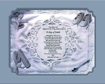2 BAPTISM-CHRISTENING:    Personalized Gift Keepsake Remembrance