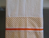 Charming Orange and White Dots Flour Sack Towel