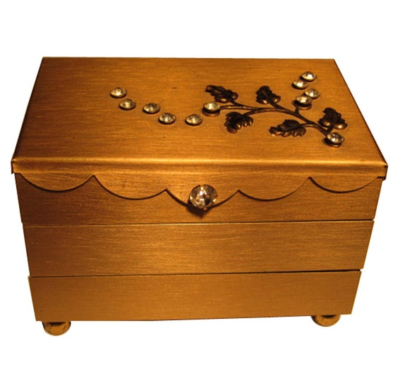 Vintage Jewelry Box by Gold Tone NYC