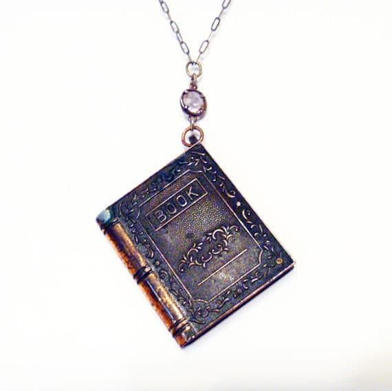 Vintage Lighter Necklace Tiny Book