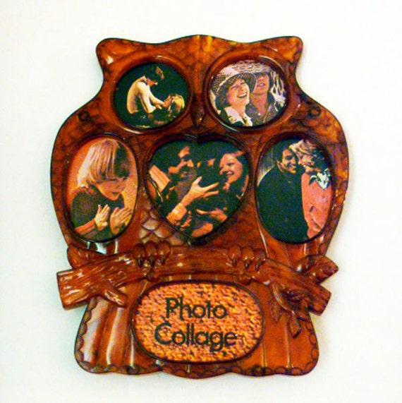 Vintage Owl Frame Multi Photo ON SALE