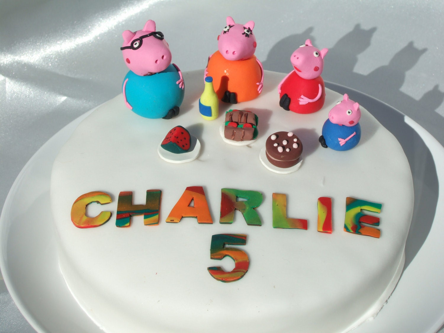peppa pig picnic cake topper by minahmoos on etsy
