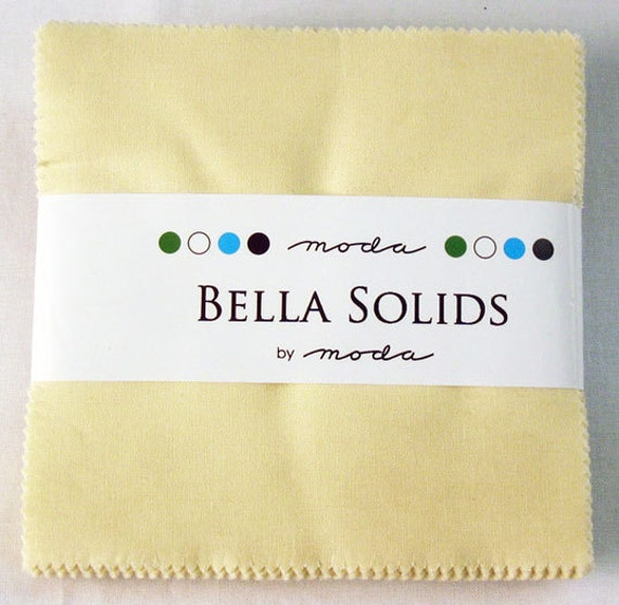 "Moda Charm Pack BELLA SOLIDS SNOW, 5"" Quilt Squares"