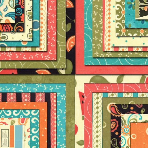 """Moda Charm Pack, SASSY by SANDY GERVAIS, 5"""" Quilt Fabric Squares"""