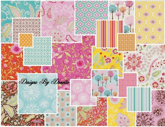 "Dena Designs PRETTY LITTLE THINGS Jelly Roll,  (30) 2 1/2"" x 44"" strips"