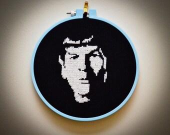 PATTERN: Spock Star Trek Cross Stitch