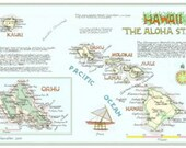 Hawaii Map in Three Sizes
