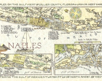 Naples Florida Map - in Two Sizes