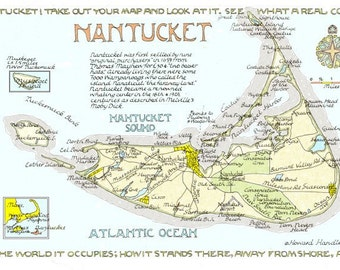 Nantucket Massachsetts in Two Sizes