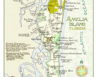 Amelia Island, Florida in Two Sizes