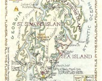 St. Simons, Sea Island, Little St. Simons, Georgia (Two Sizes)
