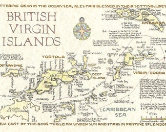 British Virgin Islands - in Two Sizes