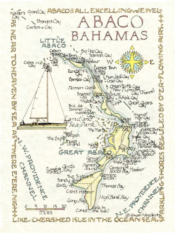 Abacos, Bahamas - in Two Sizes