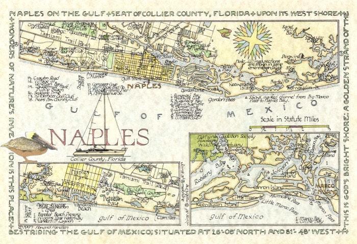 vintage naples florida map