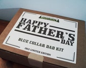 Fathers Day Blue Collar Kit Gift for Dads Gifts for Men for the Natural Dad or Father