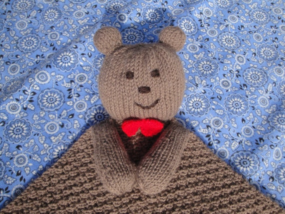 Beary Special Baby Lovie PDF Knitting Pattern Bear Security Blanket by Girlpower (Baby Child Toddler)