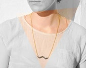 mirror chevron necklace