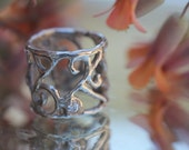 Swirl Ring with CZ's