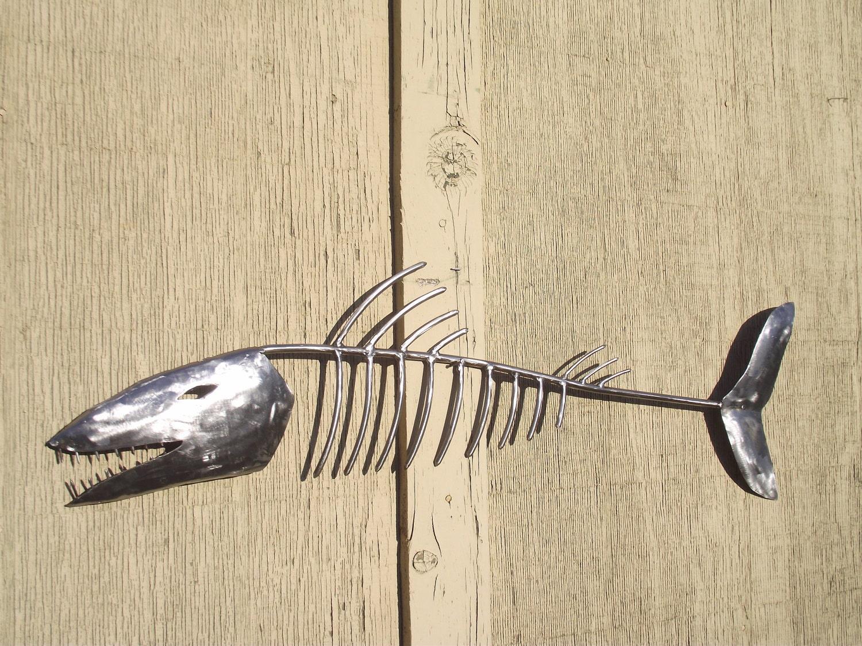 Metal Fish Skeleton Sculpture By Carpinetasmetalcraft On Etsy