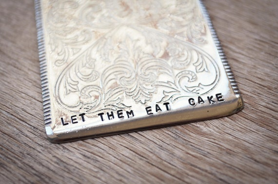 LET THEM EAT Cake - Wedding Cake Server - Silver plate