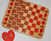 Teddy Bears and Hearts Checker Board and Game Pieces