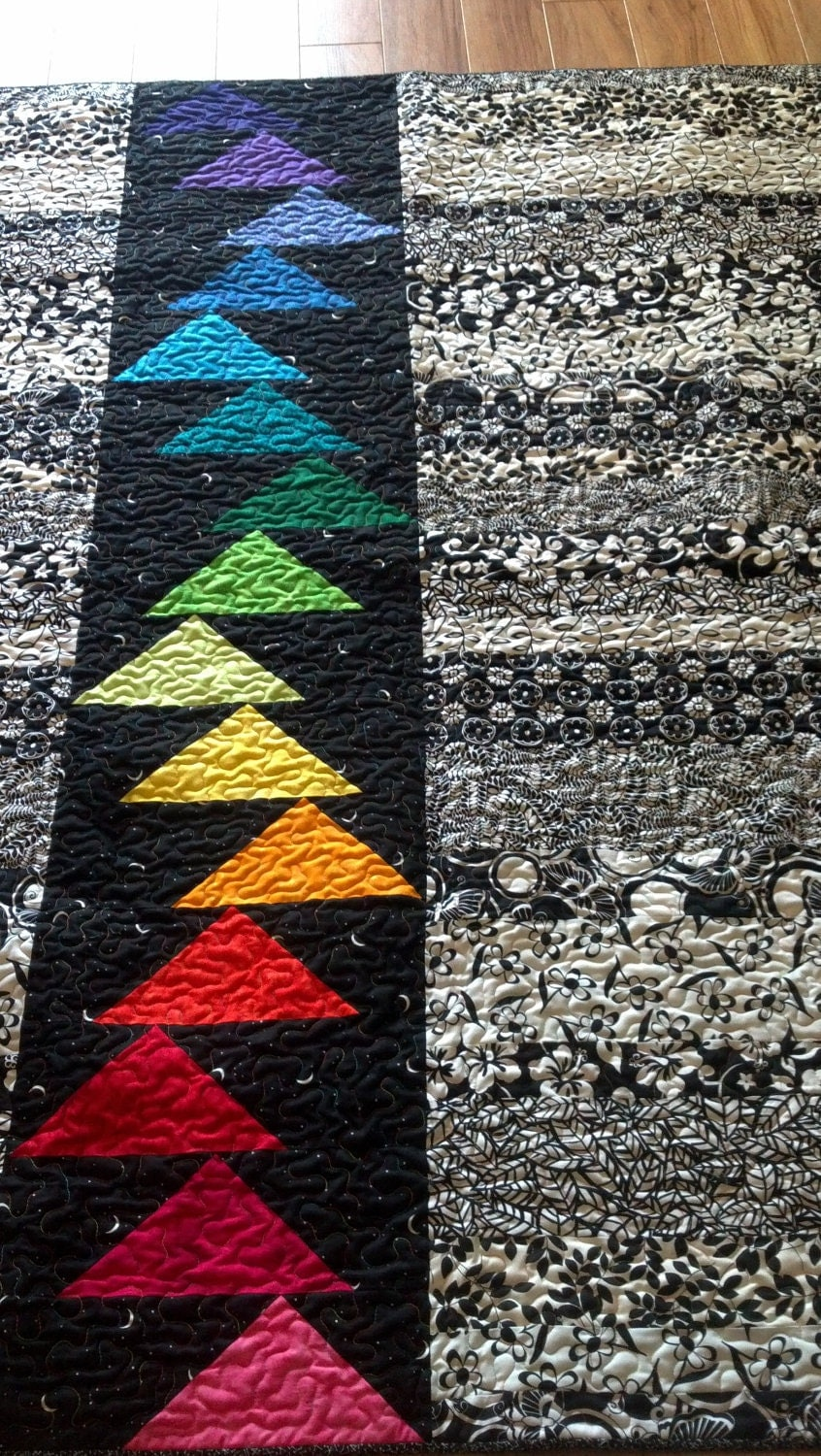 Fly Away Home Quilt On Sale Black Amp White With Bright