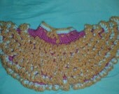 Handmade:  Infant Pettiskirt/Tutu in Hot Pink, Orange, and White