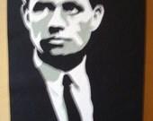 Robert F. Kennedy Cut-Paper Portrait Illustration