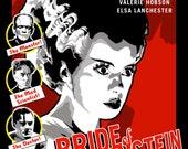 Bride of Frankenstein Original Poster Illustration