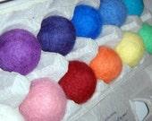 Rainbow Felt Balls One Dozen