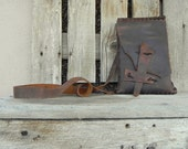 Southwest Inspired Brown Leather Handmade Hippy Bag