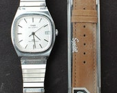 Vintage 1980s Timex Automatic with Speidel strap in great condition