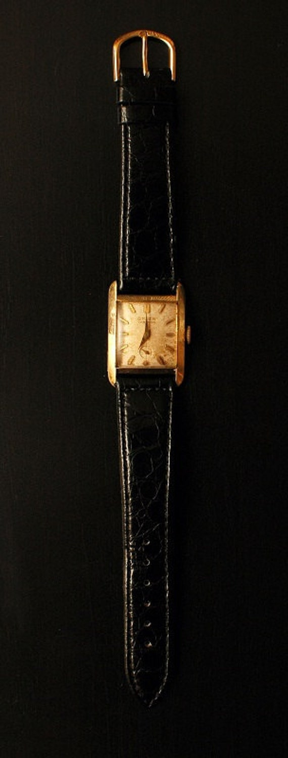 Vintage 1950s Swiss Made Gruen Veri-Thin 17 Jewels manual wind gold watch in great condition