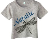 Personalized Dragonfly T-shirt for Toddlers and Children Customized with Name