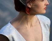 Birdcage veil in, white, ivory, black, brown, or camel