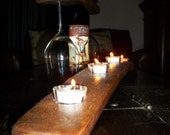 Candle Holder / Wine Barrel Stave Candle Holder