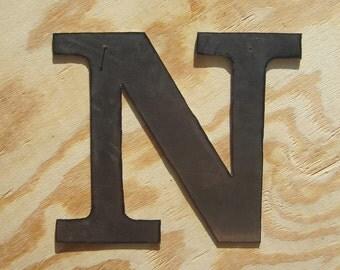 """Metal letter """"N"""""""
