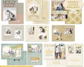 Lovely Little Holiday Folded 5x7 Christmas card designs - templates for photographers