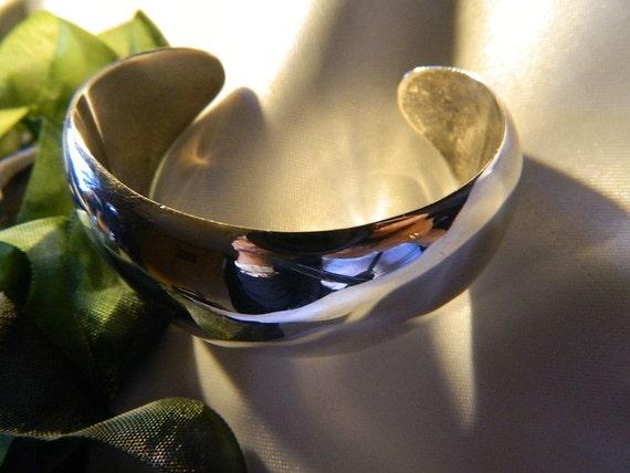 Solid Sterling Silver Plain Cuff Bracelet.......