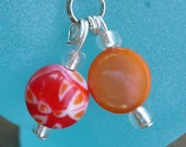 Red,Orange,White cell phone charm