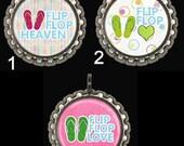 Flip Flops Zipper Pull  Bottle Cap Keyring Hairbow Centers Pendants Magnets Girls Teens Tweens Ladies