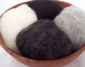 Needle Felting Wool - Chimney Sweep Collection