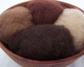 Needle Felting Wool - Chocolate Factory Collection