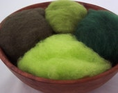 Needle Felting Wool - Green with Envy Collection