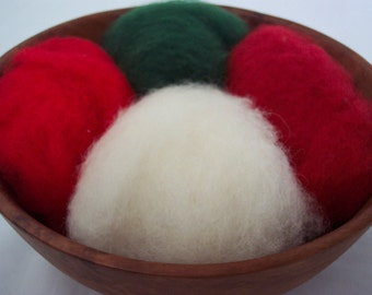 Needle Felting Wool - Happy Holidays Sampler-Wet Felting Wool