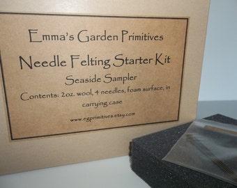 Needle Felting Starter Kit - Seaside Colors